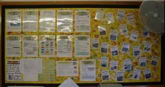 ICT Instructions and Vocabulary Cards Display