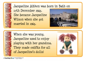 Jacqueline Wilson Fact Cards