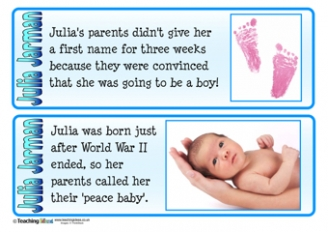 Julia Jarman Fact Cards