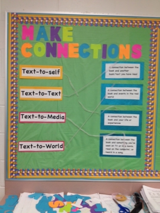 Good Readers Make Good Connections Display