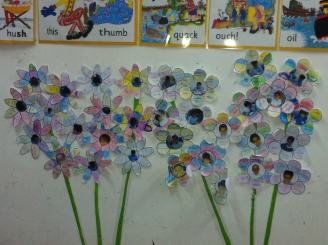 Synonym and Antonym Garden Display