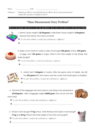 Mass Word Problems