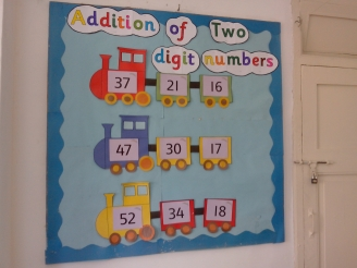 Addition of two digit numbers Display