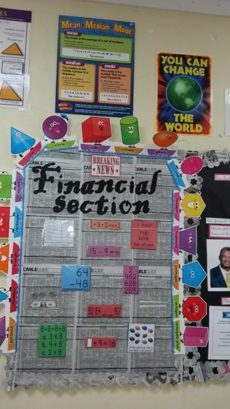 Financial Section Display
