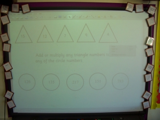 Smartboard Shapes Display