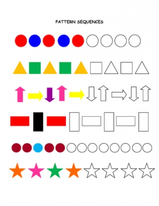Pattern Worksheets shape pattern worksheets for 4th grade : 2D Shape | Teaching Ideas