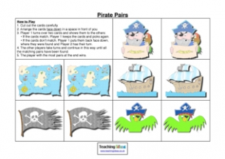 Pirate Pairs Game
