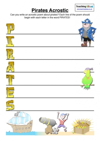 Pirates Acrostic