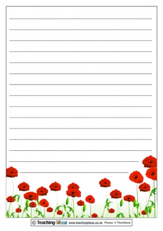 Remembrance Paper Templates