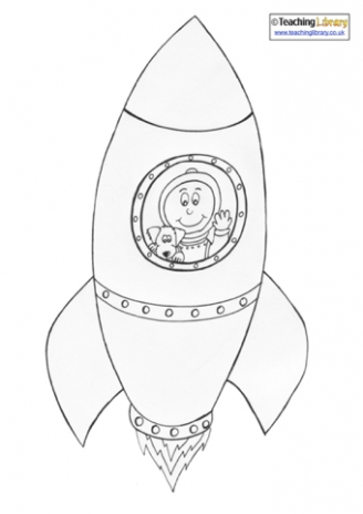 Rocket Colouring Page