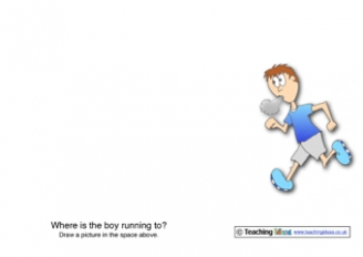 Where is the Boy Running to? Activity