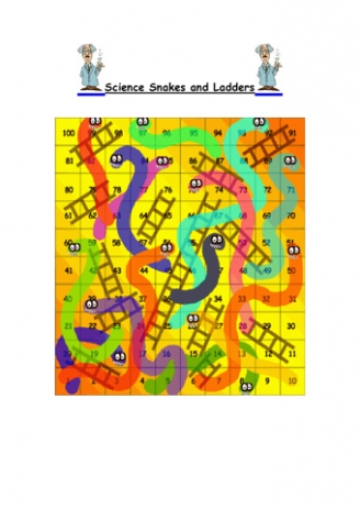Science Snakes and Ladders