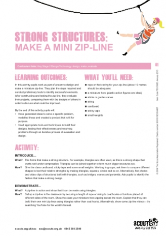 Make a Mini Zip-Line