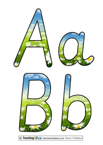 Spring Display Letters