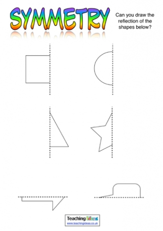 Shape Symmetry Worksheet Year 2 - geometry shape maths worksheets for ...