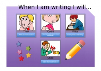 Think, Count, Write, Check Poster