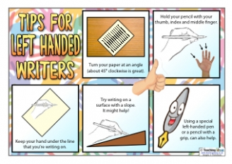 Tips for Left Handed Writers