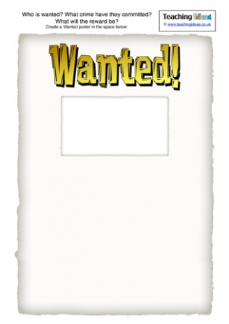 Wanted Poster Activity