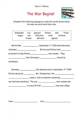 World War 2 Essay Prompts For Middle School - image 11