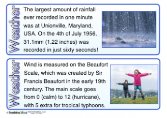 Weather Fact Cards