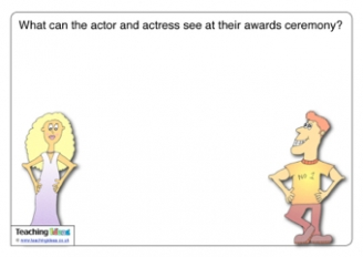 What can the actor and actress see at their award ceremony?