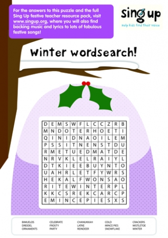 Winter Wordsearch