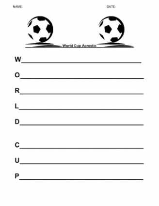 World Cup Acrostic
