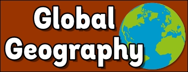 Geography in bubble writing