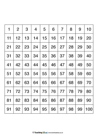 template for numbers 1 100 - number square templates teaching ideas