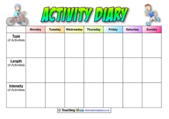 activity diary template
