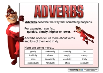 Adverbs Resources | Teaching Ideas