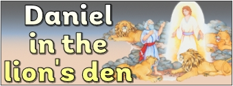 Daniel and the Lion's Den Display Banner