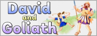 David and Goliath Display Banner