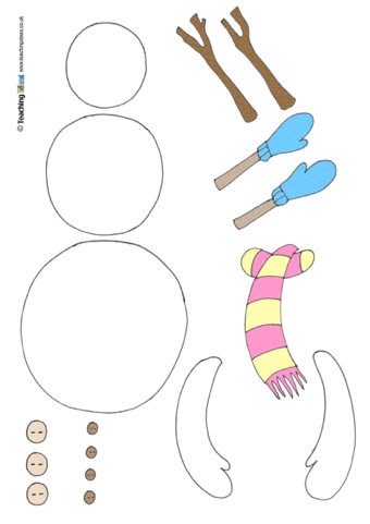 how to build a snowman writing sample