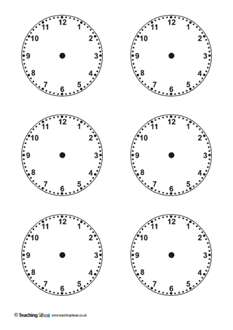 Blank Clock Templates  Teaching Ideas