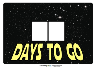 Countdown To Star Wars Day Poster | Teaching Ideas