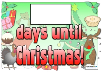 Days Until Christmas Posters   Teaching Ideas