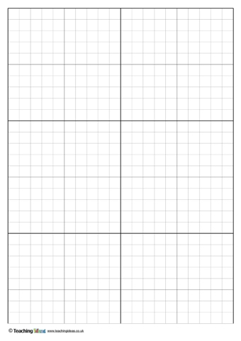 Graph Paper Templates  Teaching Ideas