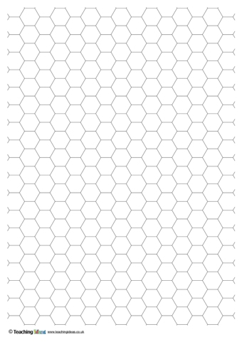 Hexagonal Grid Paper  Teaching Ideas