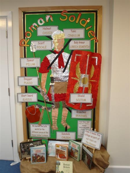 Ancient History Classroom Decorations ~ Roman soldier display teaching ideas