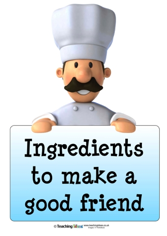 ingredients to make a good friend teaching ideas