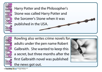 J.K. Rowling Fact Cards