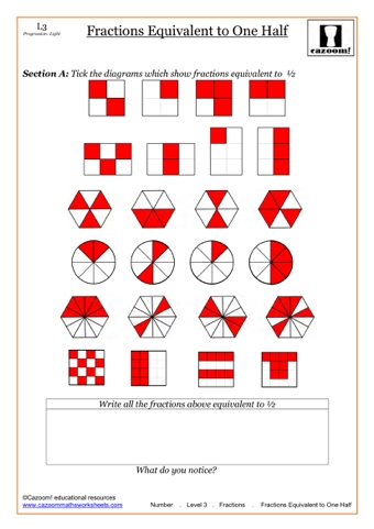 fractions worksheets teaching ideas