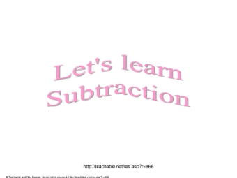 Let's learn subtraction