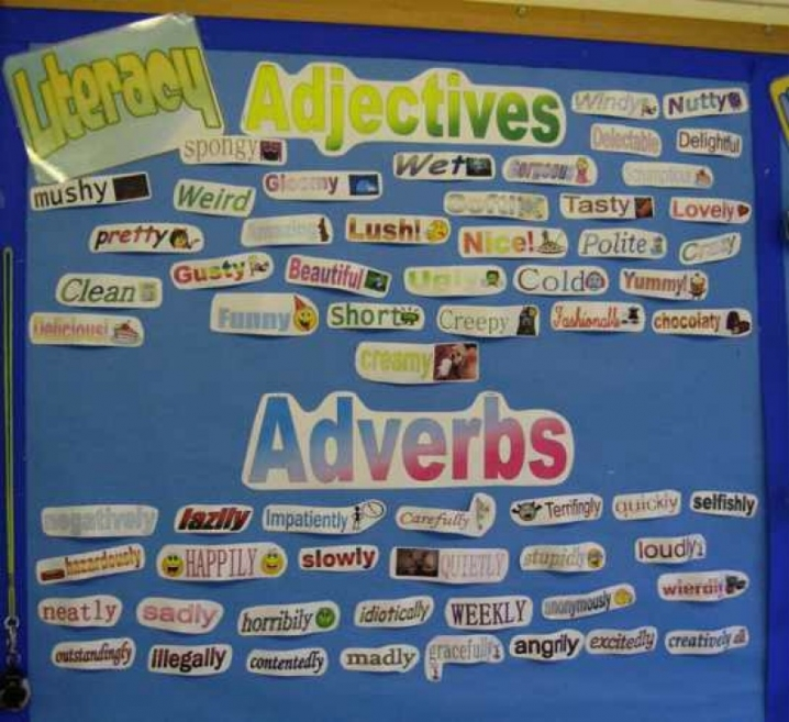 Adjectives and Adverbs Display