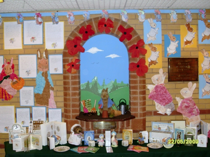 Classroom Ideas For Easter ~ Peter rabbit display teaching ideas