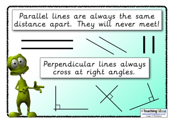 Perpendicular Lines Definition For Kids
