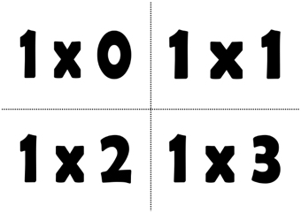 Multiplication Table Cards