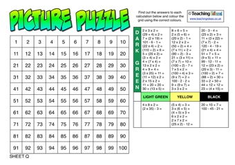 Brackets Picture Puzzles