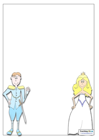 prince and princess template teaching ideas